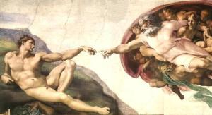 La création d'Adam - Chapelle Sixtine - par Michel-Ange